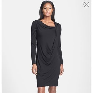 [Lafayette 148 New York] Draped long sleeve dress